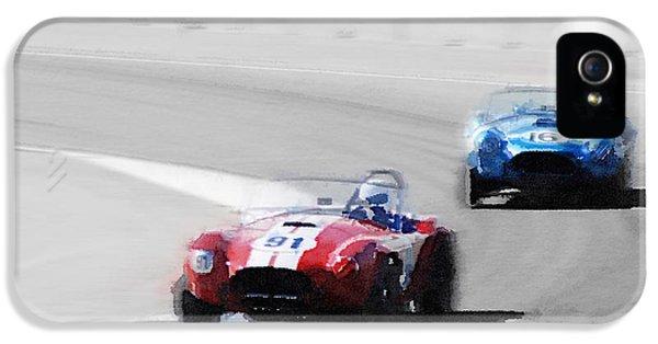 Cobra iPhone 5 Case - Ac Cobra Racing Monterey Watercolor by Naxart Studio