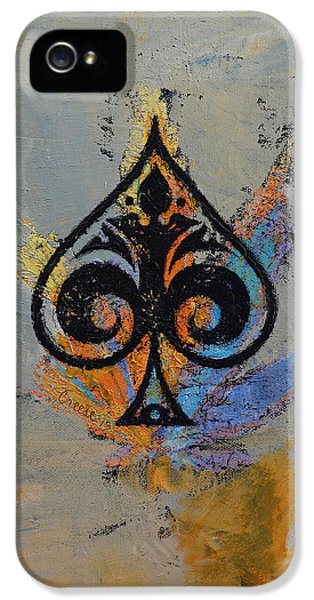 Ace IPhone 5 Case by Michael Creese