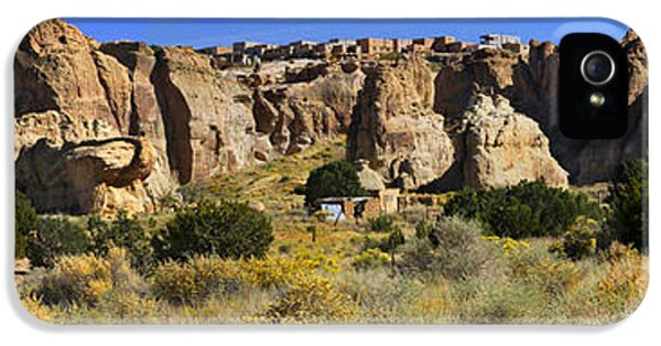 Acoma Pueblo Sky City Panoramic IPhone 5 Case by Mike McGlothlen