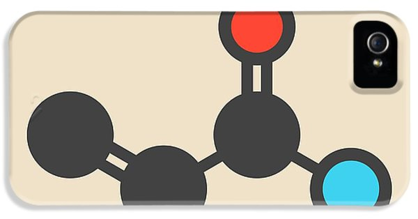 Toxicity iPhone 5 Case - Acrylamide Molecule by Molekuul