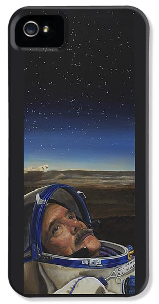 Ad Astra - Col. Chris Hadfield IPhone 5 Case by Simon Kregar