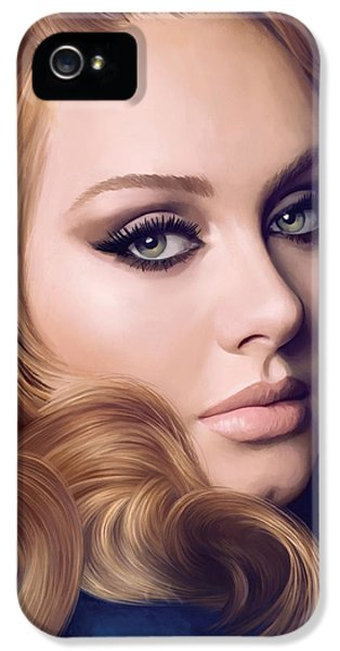 Adele Artwork  IPhone 5 Case by Sheraz A