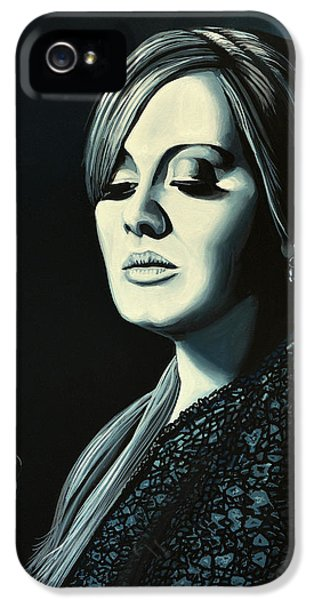 Rhythm And Blues iPhone 5 Case - Adele 2 by Paul Meijering