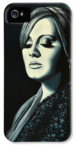 Adele Skyfall Painting IPhone 5 / 5s Case by Paul Meijering