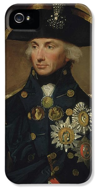 Admiral Horatio Nelson IPhone 5 Case by War Is Hell Store