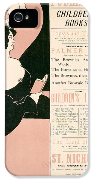 Advertisement For Children's Books IPhone 5 Case by Aubrey Beardsley