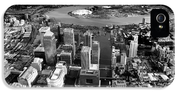 Canary iPhone 5 Case - Aerial View Of London 5 by Mark Rogan