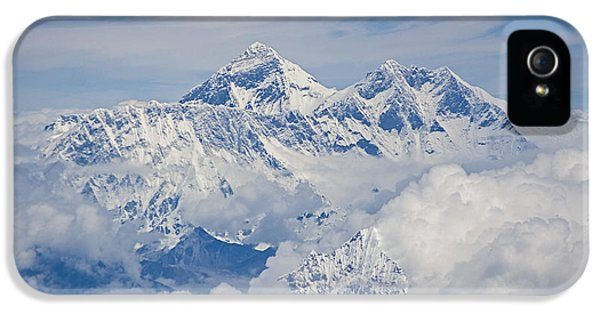 Aerial View Of Mount Everest IPhone 5 Case by Hitendra SINKAR