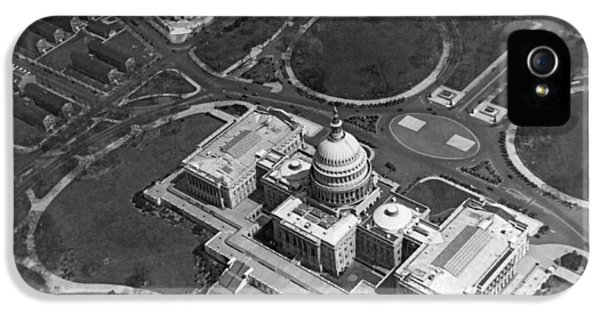 Aerial View Of U.s. Capitol IPhone 5 Case by Underwood Archives