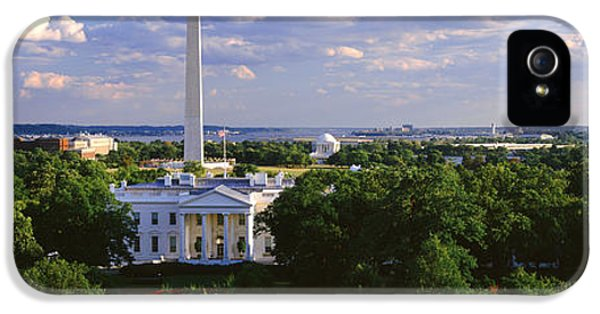 Aerial, White House, Washington Dc IPhone 5 Case by Panoramic Images