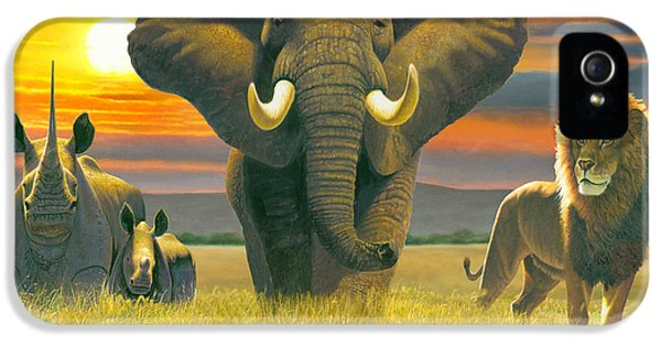 Africa Triptych Variant IPhone 5 Case by Chris Heitt