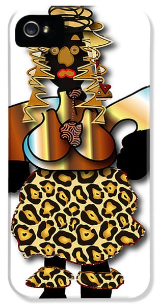 IPhone 5 Case featuring the digital art African Dancer 2 by Marvin Blaine