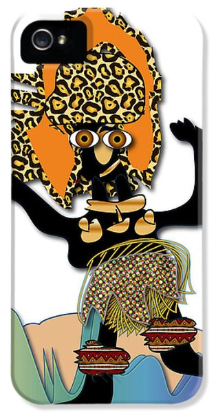 IPhone 5 Case featuring the digital art African Dancer 6 by Marvin Blaine