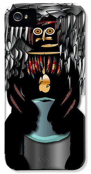 IPhone 5 Case featuring the digital art African Drummer 2 by Marvin Blaine