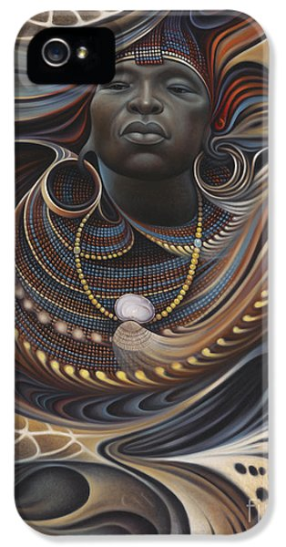 Brown Snake iPhone 5 Case - African Spirits I by Ricardo Chavez-Mendez