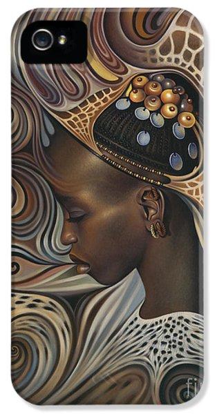 African Spirits II IPhone 5 Case by Ricardo Chavez-Mendez