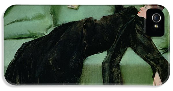 After The Ball  IPhone 5 Case by Ramon Casas i Carbo