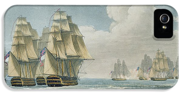 After The Battle Of Trafalgar IPhone 5 Case by Thomas Whitcombe
