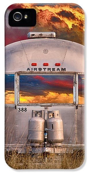 Airstream Travel Trailer Camping Sunset Window View IPhone 5 Case