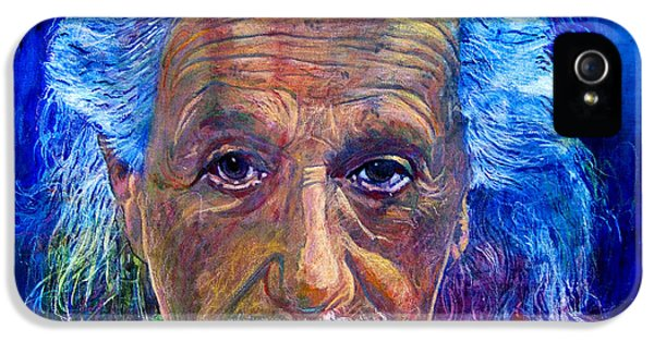 Famous People iPhone 5 Cases - Albert Einstein iPhone 5 Case by David Lloyd Glover