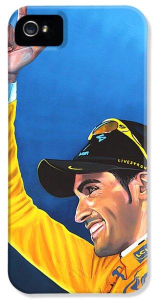 Alberto Contador IPhone 5 Case by Paul Meijering