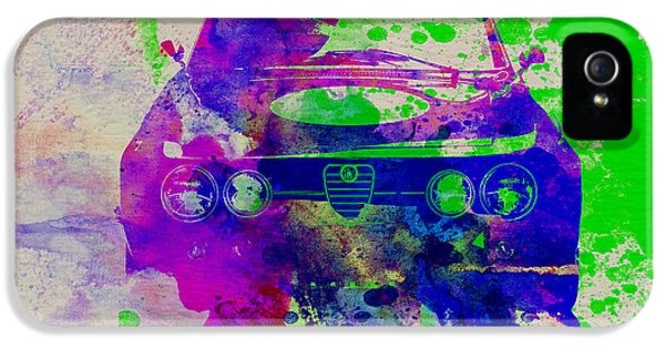 Alfa Romeo Front Watercolor 1 IPhone 5 Case by Naxart Studio