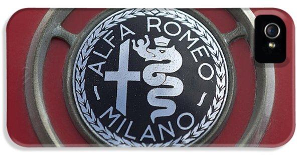 1961 Alfa Romeo Giulietta Sprint Veloce Series II Emblem -1045c IPhone 5 Case by Jill Reger