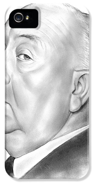Alfred Hitchcock IPhone 5 Case by Greg Joens