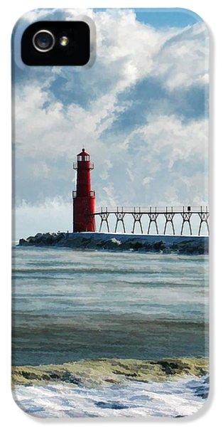 Algoma Pierhead Lighthouse IPhone 5 Case by Christopher Arndt
