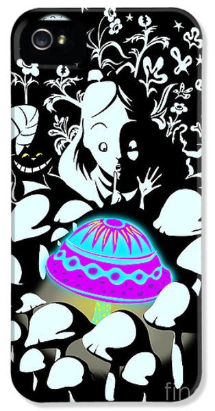 Magician iPhone 5 Case - Alice's Magic Discovery by Sassan Filsoof