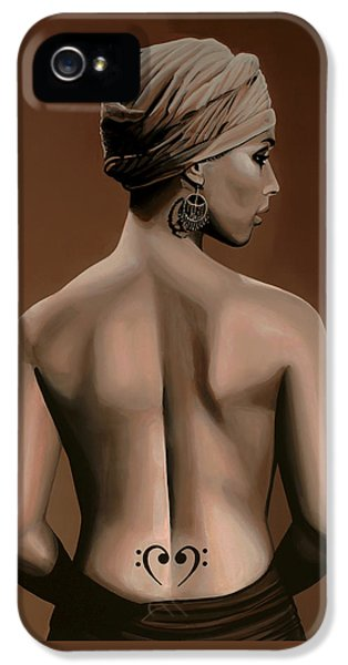 Alicia Keys  IPhone 5 Case by Paul Meijering