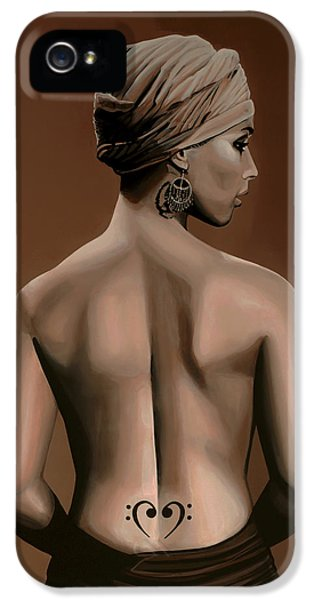Rhythm And Blues iPhone 5 Case - Alicia Keys  by Paul Meijering