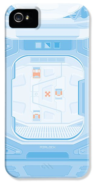 Alien 1979 Poster - Airlock IPhone 5 Case by Peter Cassidy