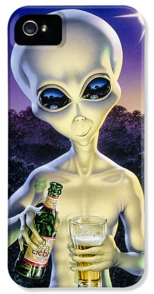 Alien Brew IPhone 5 Case by Steve Read