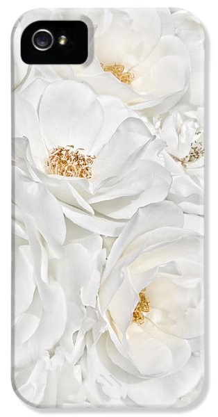 All The White Roses  IPhone 5 Case by Jennie Marie Schell