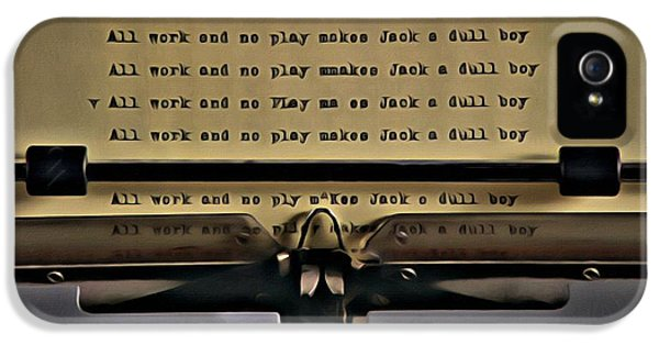 Jack Nicholson iPhone 5 Case - All Work And No Play Makes Jack A Dull Boy by Florian Rodarte