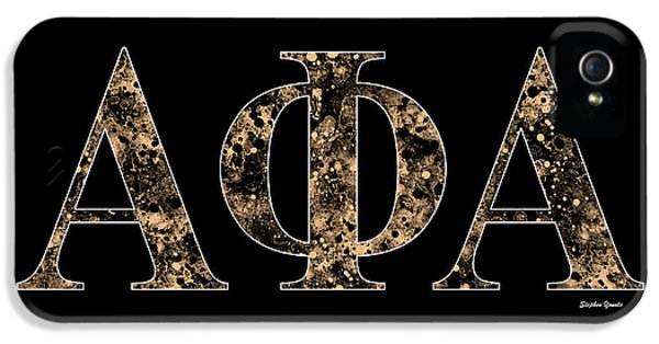Alpha Phi Alpha - Black IPhone 5 Case