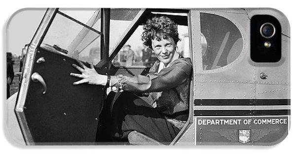 Amelia Earhart - 1936 IPhone 5 Case by Daniel Hagerman