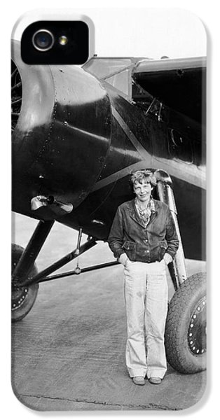Amelia Earhart And Her Plane IPhone 5 Case