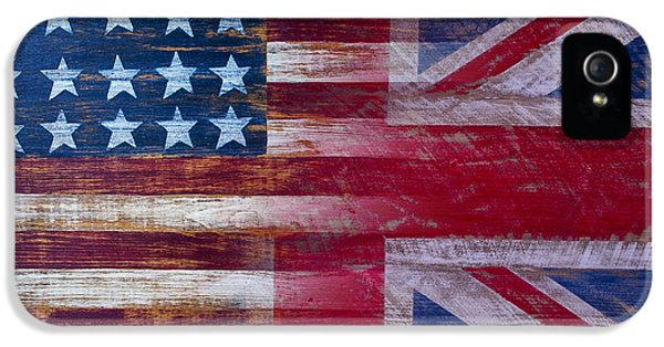 American British Flag IPhone 5 Case by Garry Gay