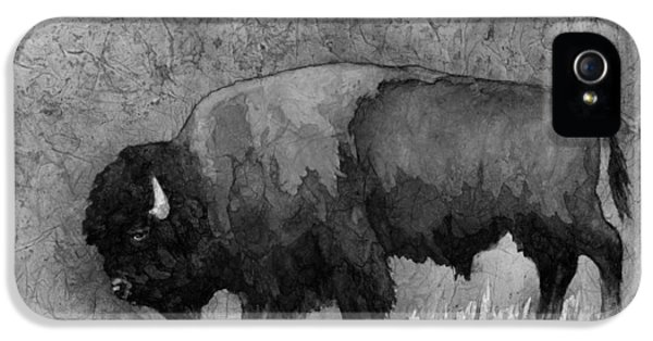 Monochrome American Buffalo 3  IPhone 5 Case