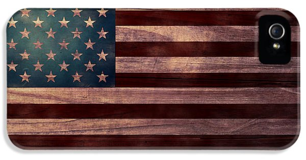American Flag I IPhone 5 Case by April Moen