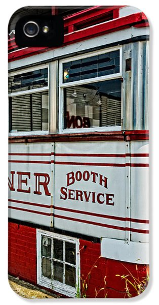Americana Classic Dinner Booth Service IPhone 5 Case by Edward Fielding