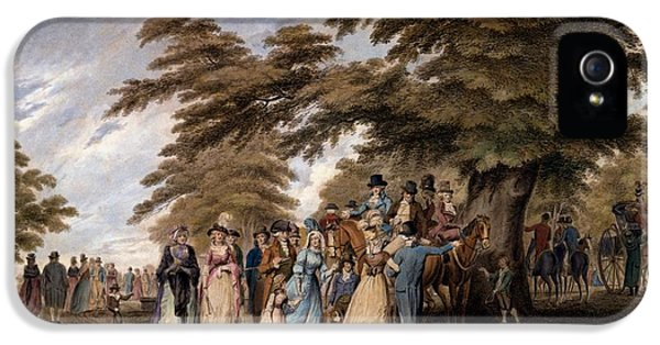 An Airing In Hyde Park, 1796 IPhone 5 Case by Edward Days