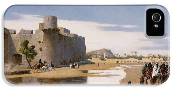 An Arab Caravan Outside A Fortified Town IPhone 5 Case