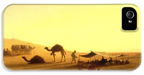 An Arab Encampment  IPhone 5 Case by Charles Theodore Frere
