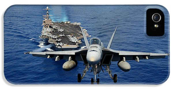 An F/a-18 Hornet Demonstrates Air Power. IPhone 5 Case