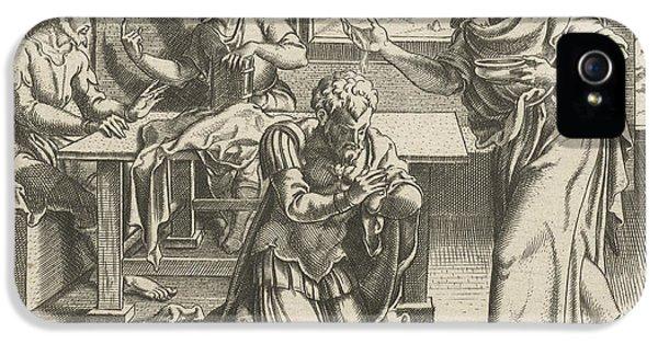 Ananias Baptizing Paul, Cornelis Bos IPhone 5 Case