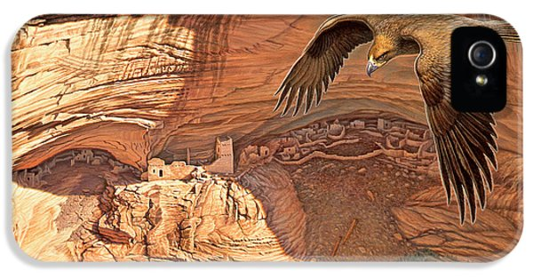 Eagle iPhone 5 Case - Anasazi - Ancient Ones by Paul Krapf