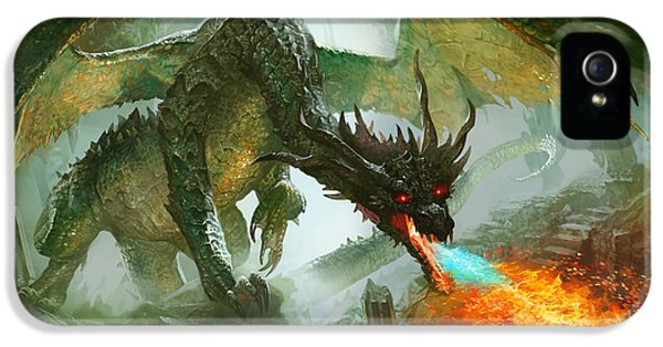 Fantasy iPhone 5 Case - Ancient Dragon by Ryan Barger